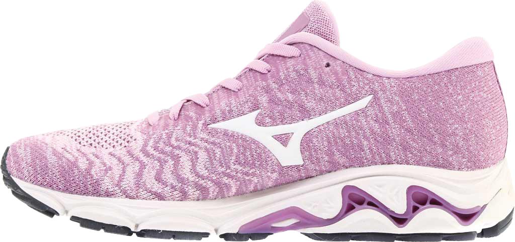 Women's Mizuno Inspire 16 WaveKnit Running Shoe, Ballerina/Snow White, large, image 3