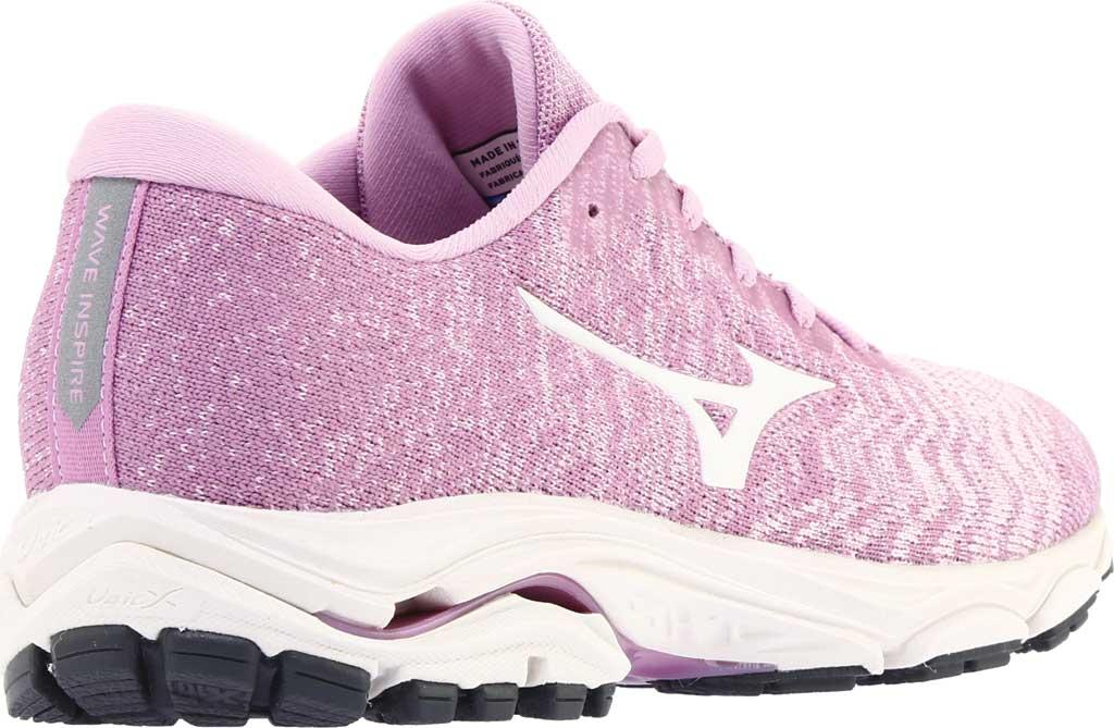 Women's Mizuno Inspire 16 WaveKnit Running Shoe, Ballerina/Snow White, large, image 4