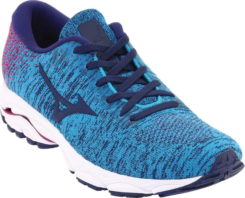Women's Mizuno Inspire 16 WaveKnit Running Shoe, Enamel Blue/Medieval Blue, large, image 1