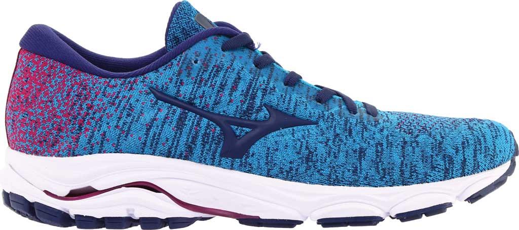Women's Mizuno Inspire 16 WaveKnit Running Shoe, Enamel Blue/Medieval Blue, large, image 2