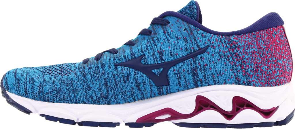 Women's Mizuno Inspire 16 WaveKnit Running Shoe, Enamel Blue/Medieval Blue, large, image 3