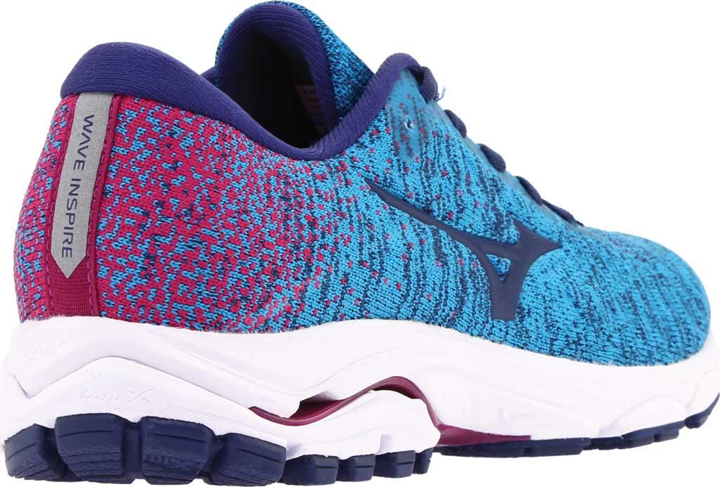 Women's Mizuno Inspire 16 WaveKnit Running Shoe, Enamel Blue/Medieval Blue, large, image 4