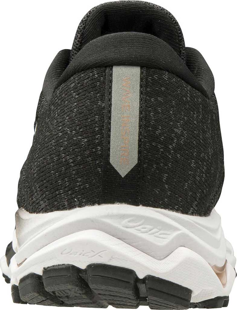 Women's Mizuno Inspire 16 WaveKnit Running Shoe, Black/White, large, image 4