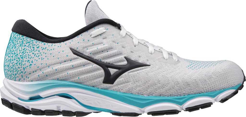 Women's Mizuno Inspire 16 WaveKnit Running Shoe, Nimbus Cloud/Phantom, large, image 2