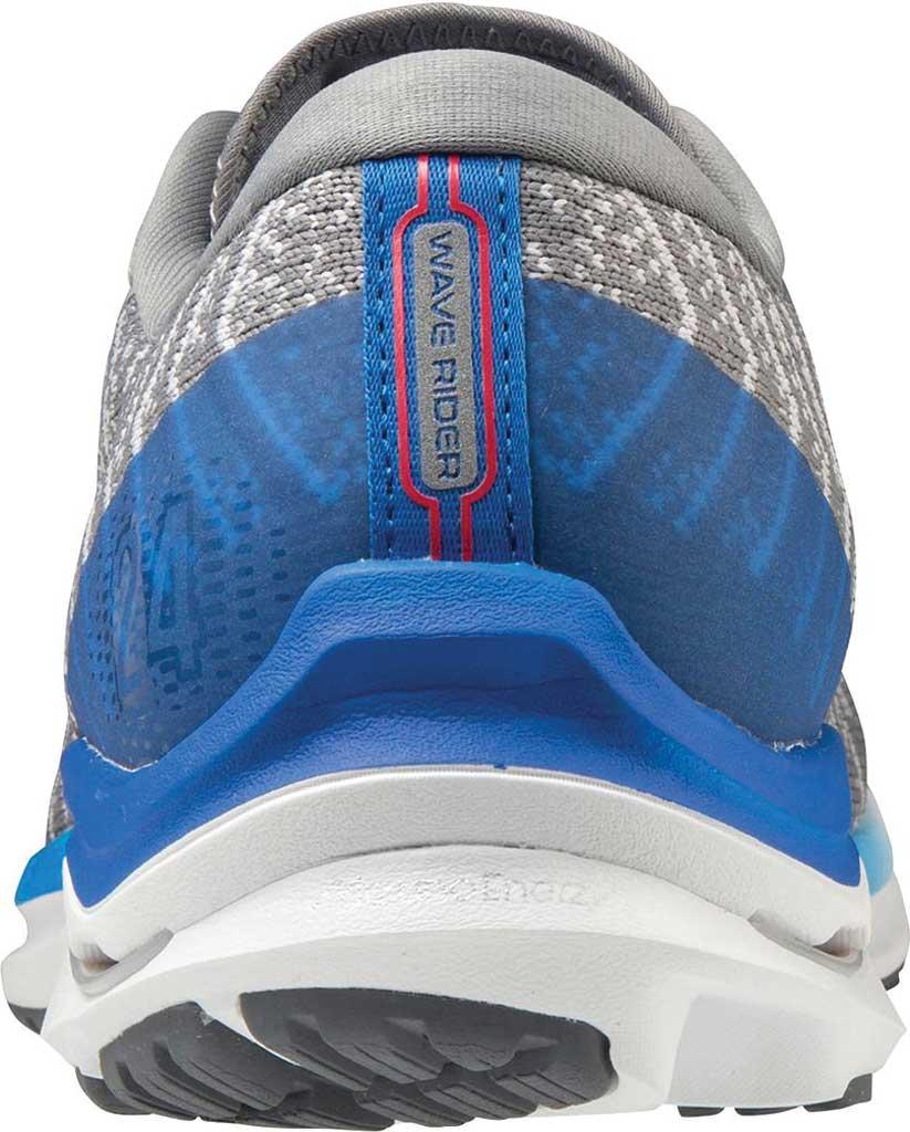 Men's Mizuno Wave Rider 24 Running Shoe, Frost Grey-White (Waveknit), large, image 4