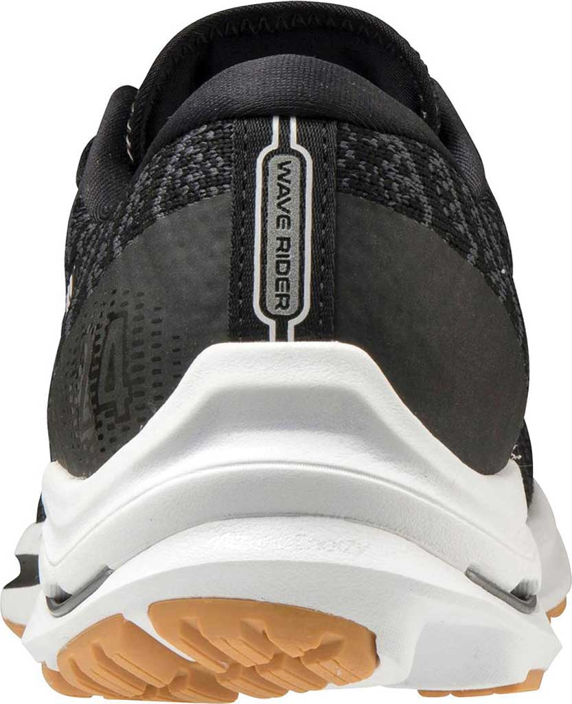 Women's Mizuno Wave Rider 24 Running Shoe, Black-Dark Shadow (Waveknit), large, image 4