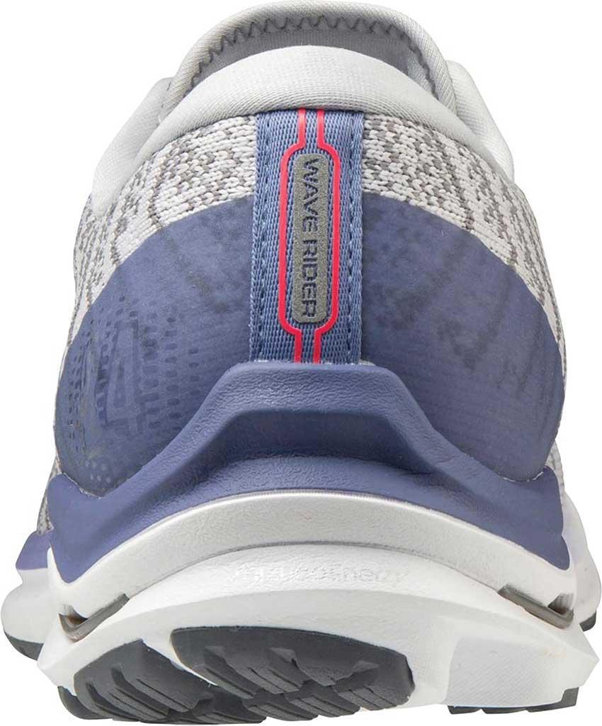 Women's Mizuno Wave Rider 24 Running Shoe, Lunar Rock-White (Waveknit), large, image 4