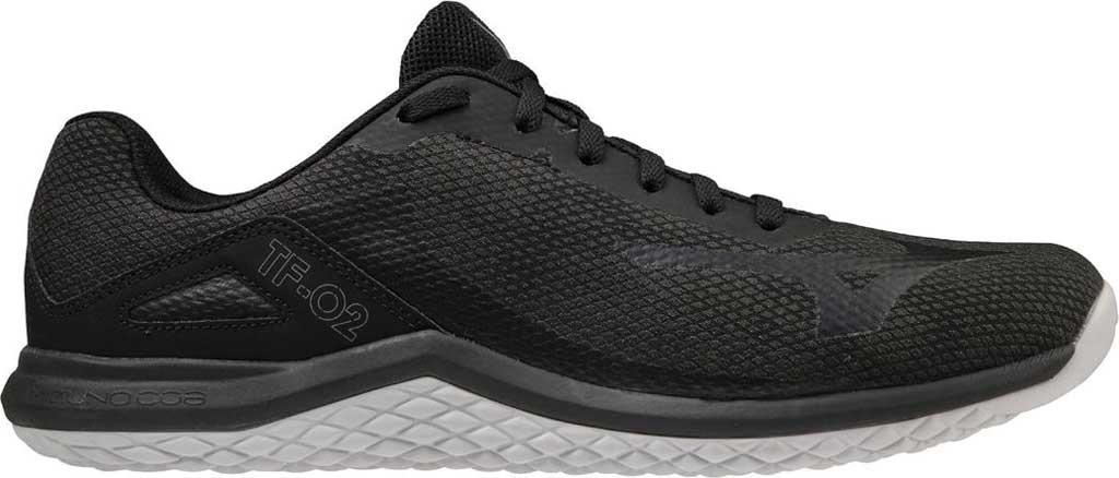 Men's Mizuno TF-02 Training Shoe, Black-Grey, large, image 1