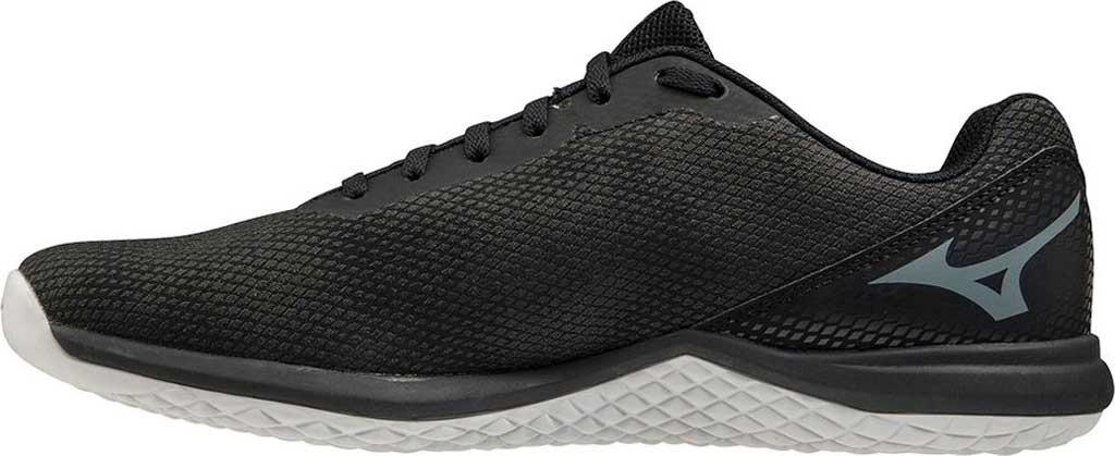 Men's Mizuno TF-02 Training Shoe, Black-Grey, large, image 2