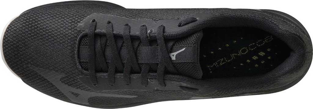 Men's Mizuno TF-02 Training Shoe, Black-Grey, large, image 4