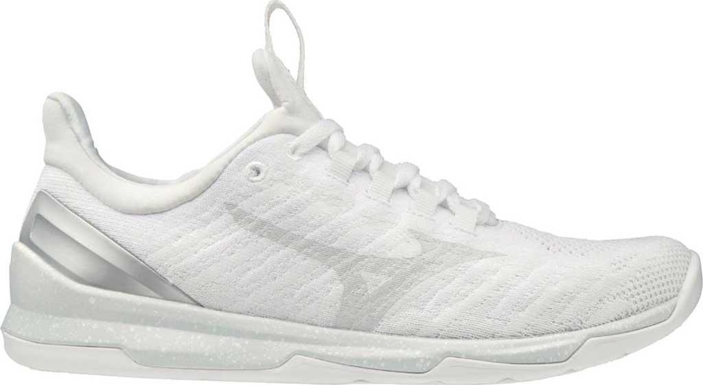 Women's Mizuno TC-01 Training Shoe, White-Silver, large, image 1