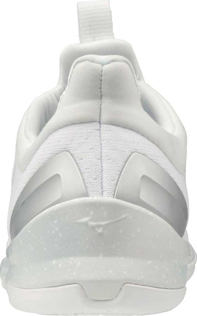 Women's Mizuno TC-01 Training Shoe, White-Silver, large, image 3