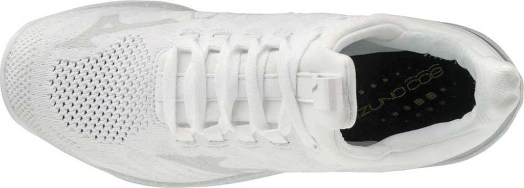 Women's Mizuno TC-01 Training Shoe, White-Silver, large, image 4