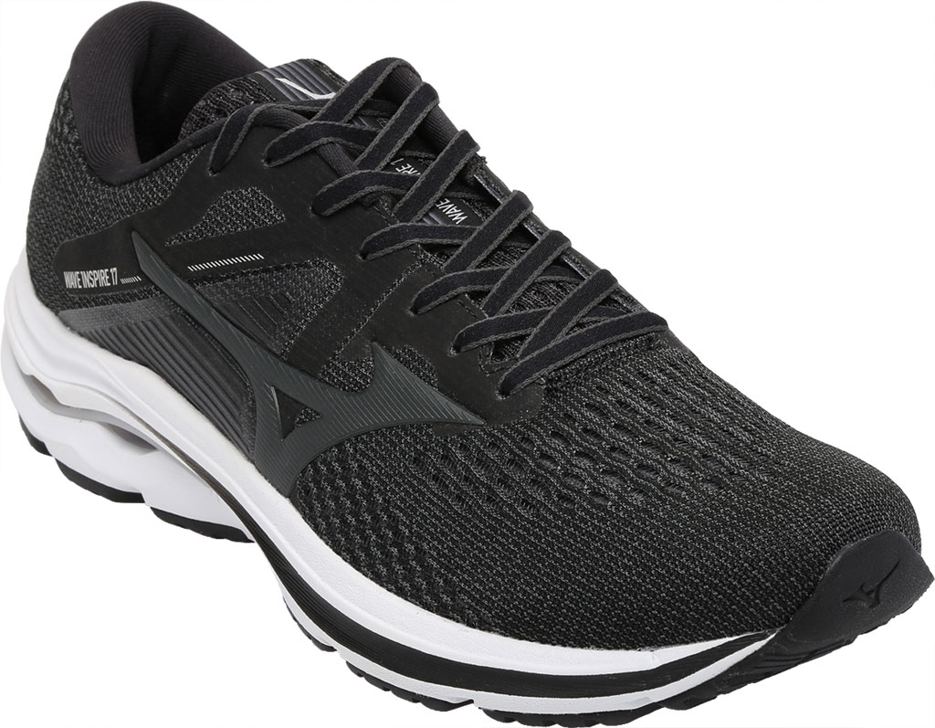 Men's Mizuno Wave Inspire 17 Running Sneaker, Dark Shadow/Quiet Shade, large, image 1