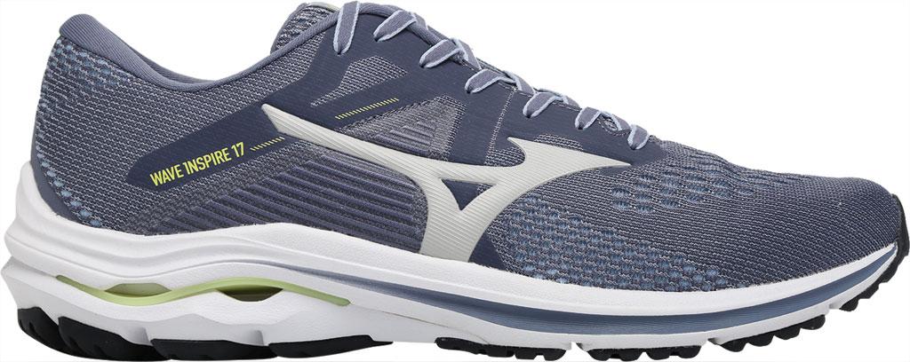 Men's Mizuno Wave Inspire 17 Running Sneaker, Folkstone Gray/Lime, large, image 2