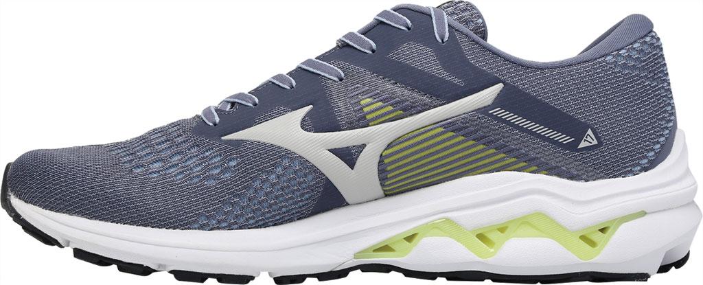 Men's Mizuno Wave Inspire 17 Running Sneaker, Folkstone Gray/Lime, large, image 3