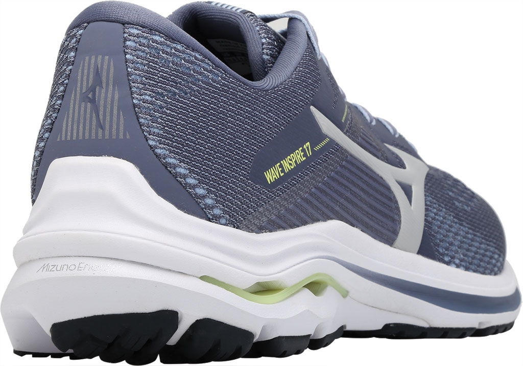 Men's Mizuno Wave Inspire 17 Running Sneaker, Folkstone Gray/Lime, large, image 4