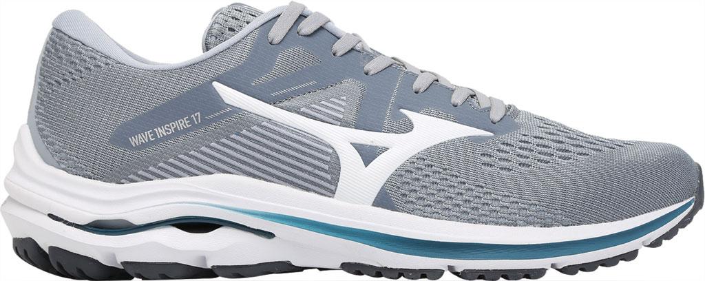 Men's Mizuno Wave Inspire 17 Running Sneaker, Sleet/White, large, image 2
