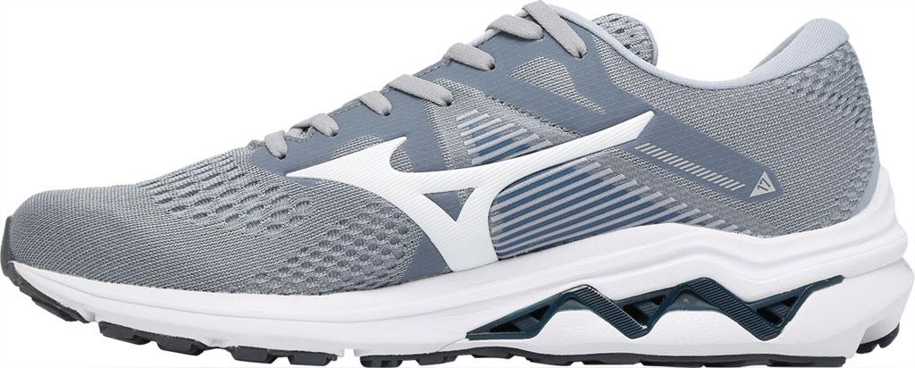 Men's Mizuno Wave Inspire 17 Running Sneaker, Sleet/White, large, image 3