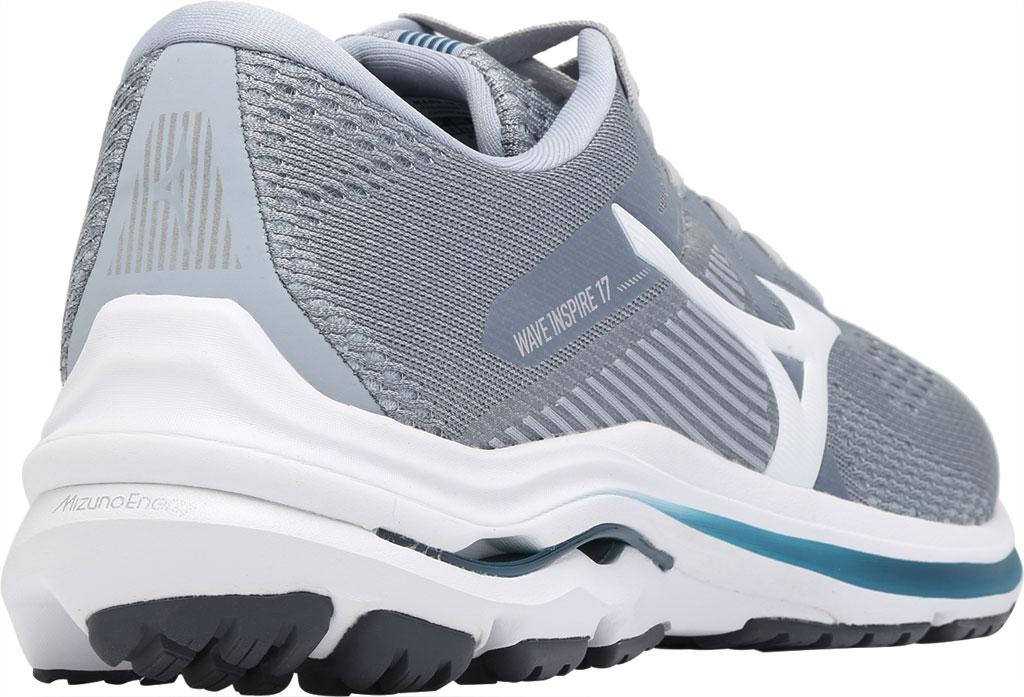 Men's Mizuno Wave Inspire 17 Running Sneaker, Sleet/White, large, image 4