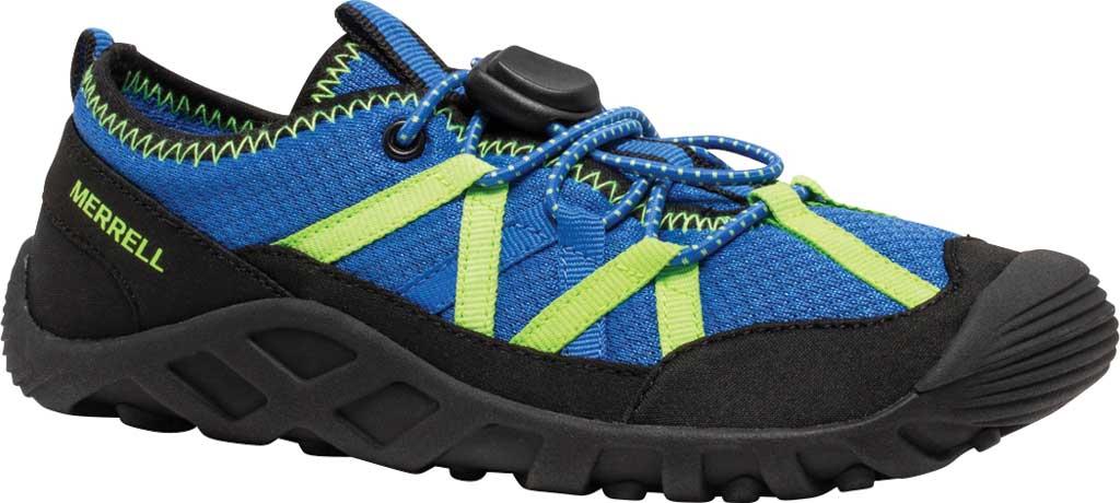 Boys' Merrell Hydro Lagoon Sneaker, Blue/Black Mesh, large, image 1