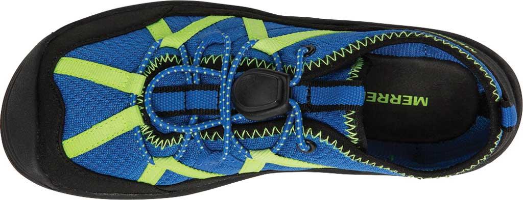 Boys' Merrell Hydro Lagoon Sneaker, Blue/Black Mesh, large, image 5
