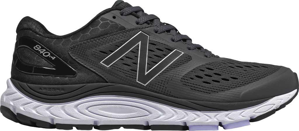 Women's New Balance W840v4 Running Shoe, Black/White, large, image 1