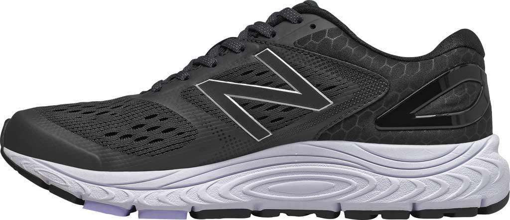Women's New Balance W840v4 Running Shoe, Black/White, large, image 2