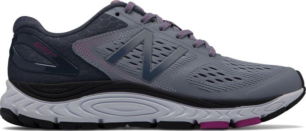 Women's New Balance W840v4 Running Shoe, Cyclone/Poisonberry, large, image 1