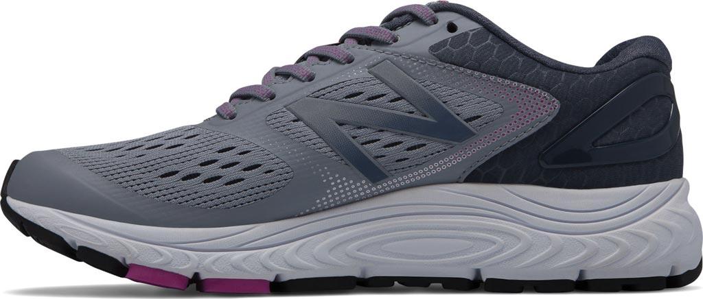 Women's New Balance W840v4 Running Shoe, Cyclone/Poisonberry, large, image 2