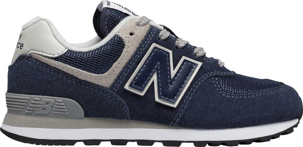 Children's New Balance 574 Sneaker - Preschool, Navy/Grey, large, image 2