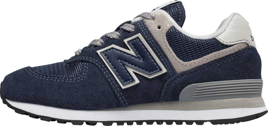 Children's New Balance 574 Sneaker - Preschool, Navy/Grey, large, image 3