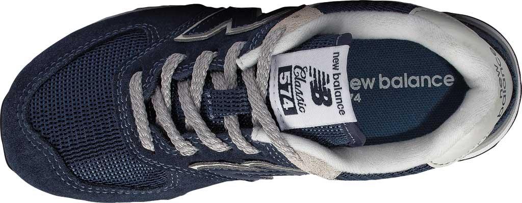 Children's New Balance 574 Sneaker - Preschool, Navy/Grey, large, image 4
