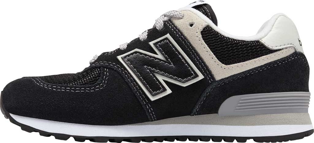 Children's New Balance 574 Sneaker - Preschool, Black/Grey, large, image 3