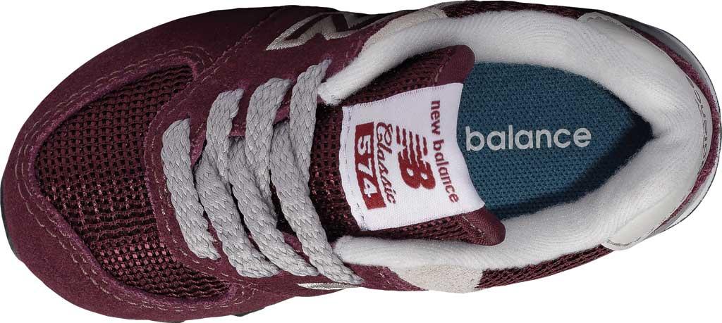 Infant New Balance 574 Sneaker, Burgundy/Grey, large, image 4