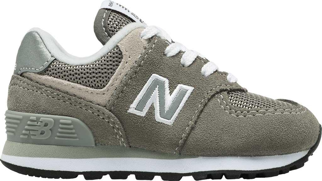 Infant New Balance 574 Sneaker, Grey/Grey, large, image 2
