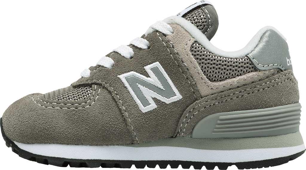 Infant New Balance 574 Sneaker, Grey/Grey, large, image 3