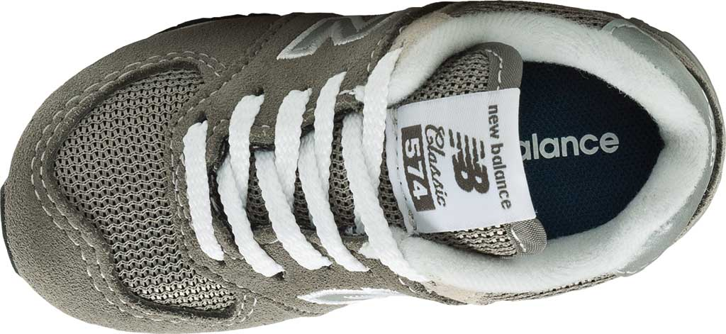 Infant New Balance 574 Sneaker, Grey/Grey, large, image 4