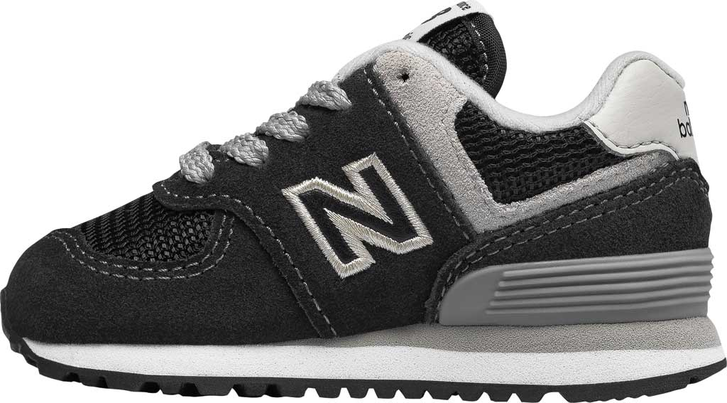 Infant New Balance 574 Sneaker, Black/Grey, large, image 3