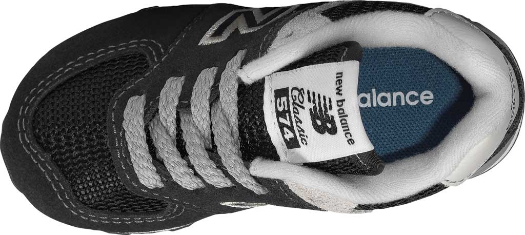 Infant New Balance 574 Sneaker, Black/Grey, large, image 4