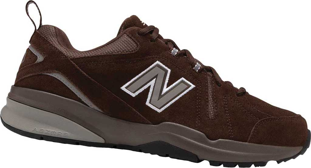 Men's New Balance 608v5 Trainer, Chocolate Brown/White, large, image 1