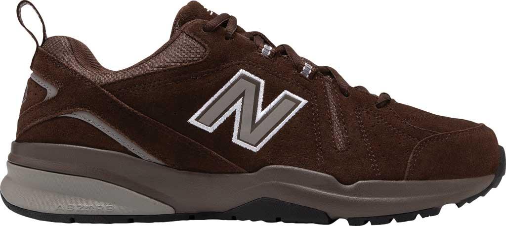 Men's New Balance 608v5 Trainer, Chocolate Brown/White, large, image 2