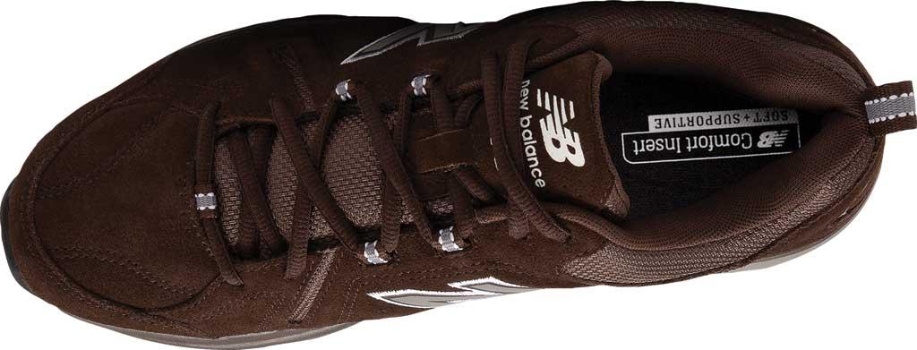 Men's New Balance 608v5 Trainer, Chocolate Brown/White, large, image 3
