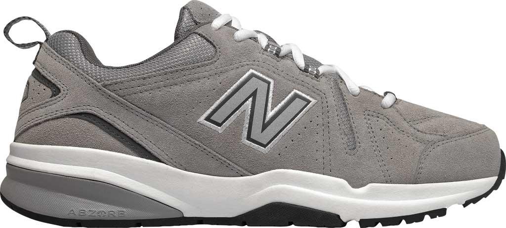 Men's New Balance 608v5 Trainer, Team Away Grey Suede/Castlerock, large, image 2