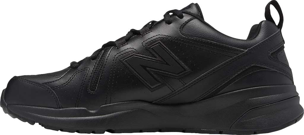 Men's New Balance 608v5 Trainer, Black/Black, large, image 2