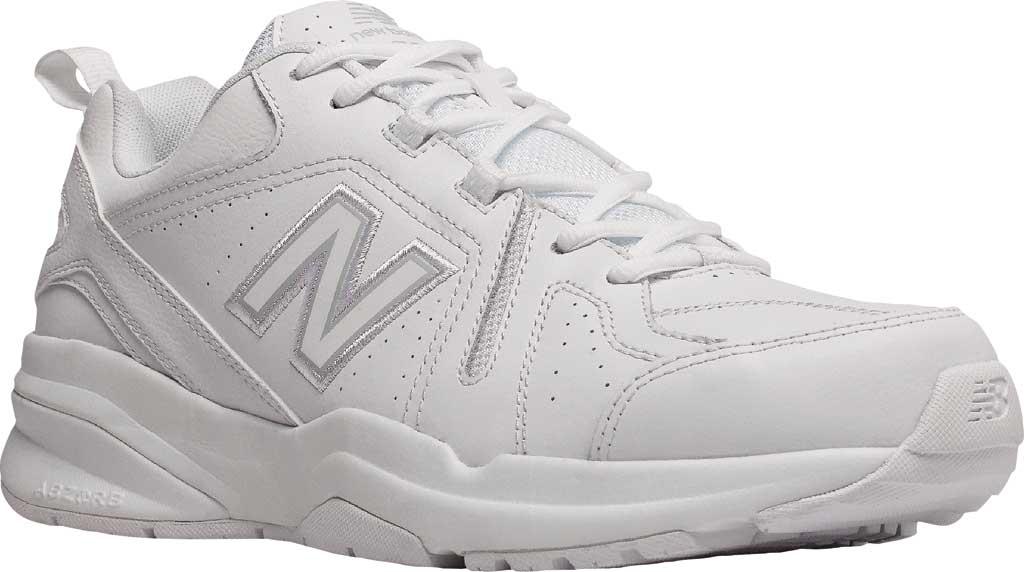 Men's New Balance 608v5 Trainer, White/White, large, image 1