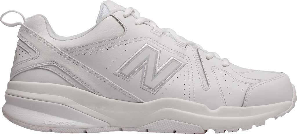 Men's New Balance 608v5 Trainer, White/White, large, image 2