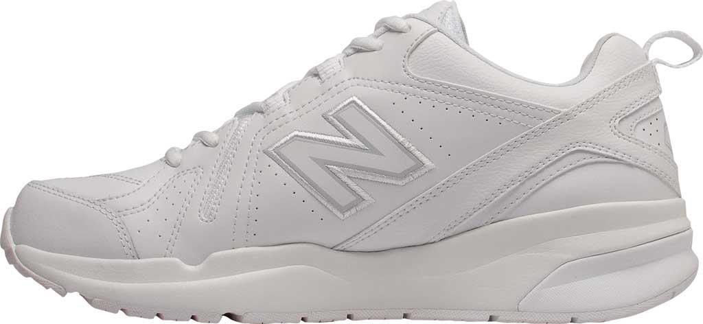 Men's New Balance 608v5 Trainer, White/White, large, image 3
