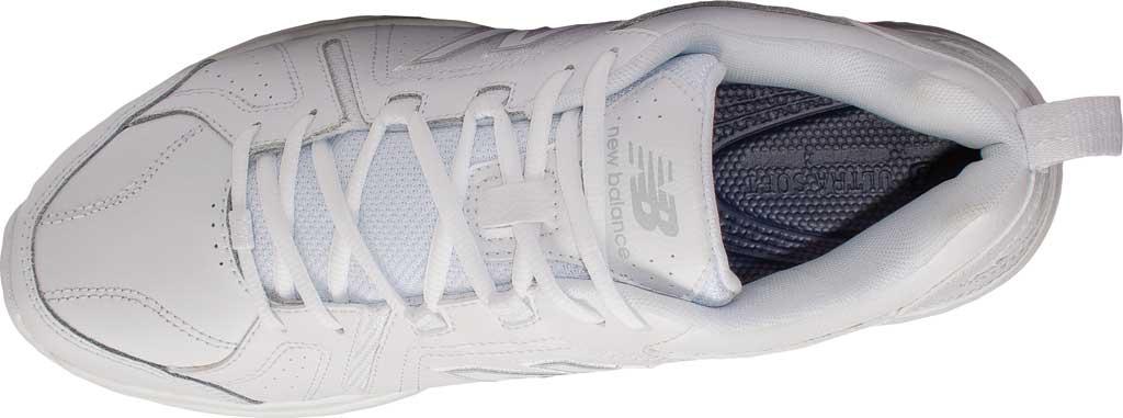 Men's New Balance 608v5 Trainer, White/White, large, image 4