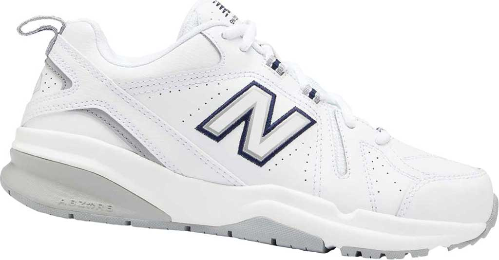 Women's New Balance 608v5 Trainer, White/Silver Mink/Pigment, large, image 1